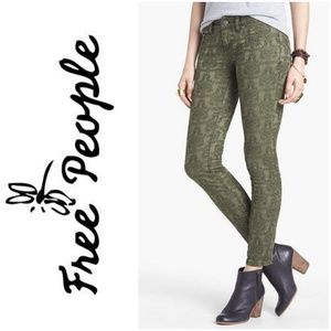 Free people jacquard skinny  pants.